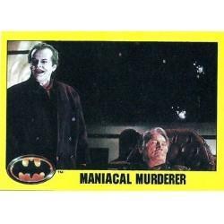 1989 Batman The Movie Series 2 Topps MANIACAL MURDERER #236