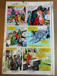 King Conan #2 page 8 Color Guide by George Roussos