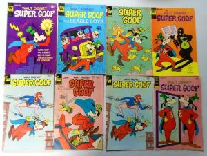 Bronze+Copper Age Disney Whitman+Gold Key Super Goof Comic Lot, 28 Different, VG