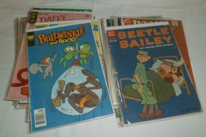 Dell/Gold Key/Charlton Flintstones Pink Panther Mighty Mouse ++ comics lot of 58