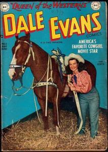 DALE EVANS COMICS #5-ALEX TOTH ART-1949-PHOTO CVR VG