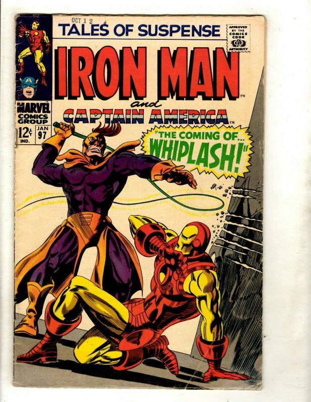 Tales Of Suspense # 96 VG/FN Marvel Comic Book Iron Man Captain America Fury GK2