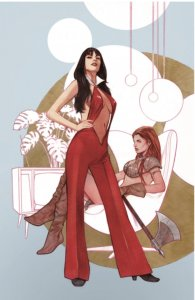 VAMPIRELLA RED SONJA 1 BEN OLIVER NYCC VIRGIN EXCLUSIVE VARIANT NM ONLY 400 MADE