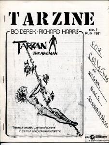 Tarzine #1 8/1981-Weintz-Edgar Rice Burroughs-Tarzan-Rare-VF