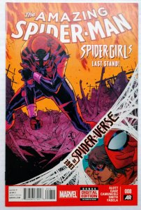 Amazing Spider-Man #8 (NM-, 2014) Debut of new Silk costume