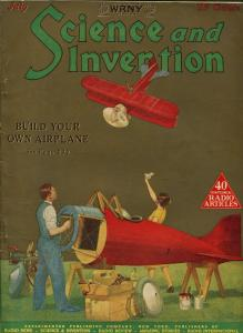 SCIENCE AND INVENTION 07/1926-GERNSBACK-CUMMINGS-GOLD TONE COVER-PULP-SCI-FI-fn