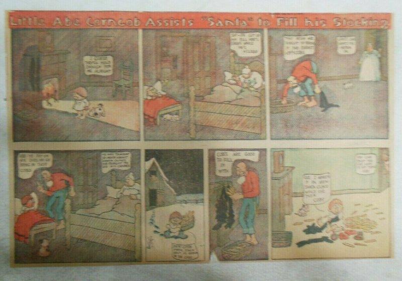 Little Abe Corncob Assists Santa ! Sunday from 12/25/1905 Half Page Size!