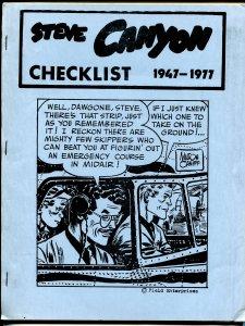 Steve Canyon Checklist 1978-Milton Caniff-1947 thru1977-FN