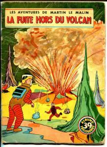 Les Adventures De Martin Le Malin #39 1960's-La Fuite Hors Du Volcan-sci-fi-G