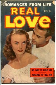 Real Love #57 1953-Ace-photo cover-spicy romance-bootleg liquor-VG