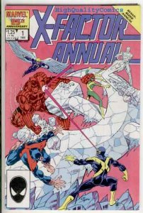 X-FACTOR Annual #1, NM, Bob Layton, 1986, Cyclops, Beast, more in store, Marvel