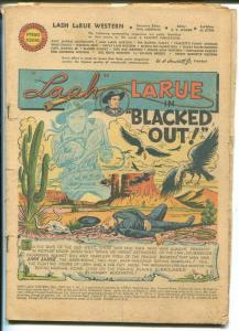 Lash LaRue #5 1950-Fawcett-Western-coverless reading copy-P