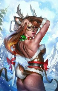 GRIMM FAIRY TALES 2020 HOLIDAY PINUP SPECIAL SET OF FOUR COVERS.