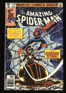 Amazing Spider-Man #210 FN/VF 7.0 1st Madame Web! Marvel Comics Spiderman