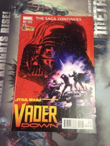 Star Wars Vader Down #1 NM Mayhew sketch variant Comic Con Box
