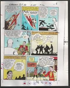 Hand Painted Color Guide-Capt Marvel-Shazam-C35-1975-DC-page #6-robot-VG/FN