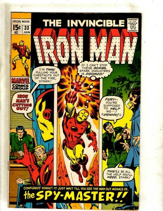 Iron Man # 33 VF/NM Marvel Comic Book Avengers Hulk Thor Captain America J462