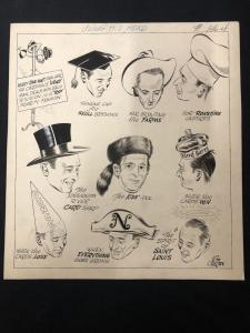 Bill O'Brien Original Sporting News Art- Harry Walker-St Louis Cardinals