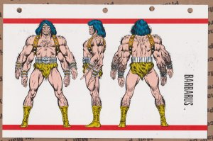 Official Handbook of the Marvel Universe Sheet- Barbarus