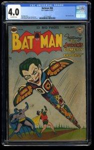 Batman #66 CGC VG 4.0 Off White Joker Cover!