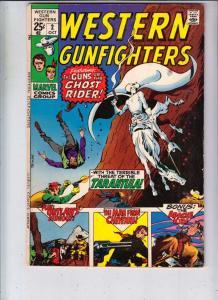 Western Gunfighters #2 (Oct-70) VF High-Grade Ghost Rider, Wyatt Earp, Black ...