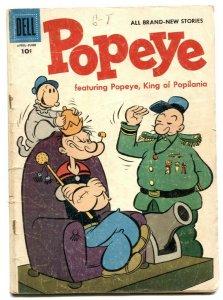 Popeye #36 1956- Dell comics- Popilania - G