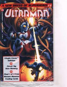 Lot Of 2 Ultraman Ultracomics # 1 (Sealed In Poly Bag) & 2 Comic Books  TW28