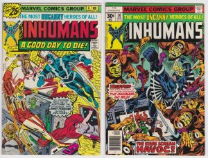 Inhumans #4 and 10 (1977) Marvel Comic lot of 2