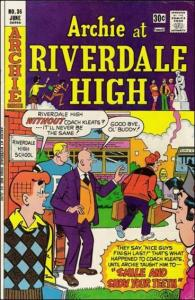 Archie Comics ARCHIE AT RIVERDALE HIGH #36 FN+