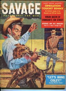 Savage Adventures For Men 3/1959-mad dog-Nazi POW-cheesecake-hardboiled G