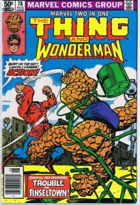 Marvel Two in One #78 ORIGINAL Vintage 1981 The Thing Wonder Man
