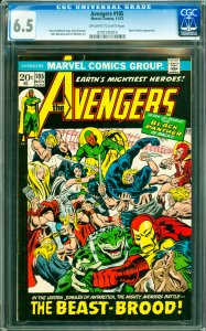 Avengers #105 CGC Graded 6.5 Black Panther appearance.