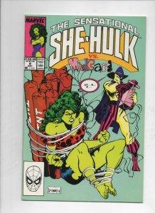 SHE-HULK #9 VF/NM,  Sensational, MadCap, 1989, more Marvel in store