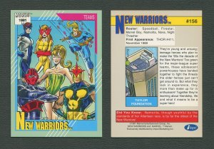 1991 Marvel Comics II  Card  #156 ( New Warriors )  MINT