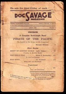 DOC SAVAGE-JULY 1933-PIRATE OF THE PACIFIC FR
