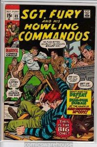 SGT FURY AND HIS HOWLING COMMANDOS (1963 MARVEL) #83 FN A05868