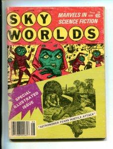 SKY WORLDS-08/1978-5 X 7-1/2 SCI-FI-1/2 COMIC-RARE-PULP-vg