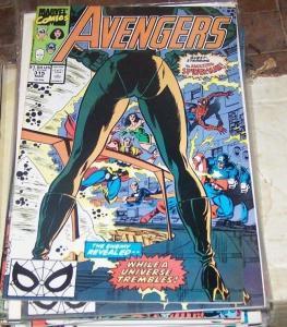 Avengers # 315 (Mar 1990, Marvel) captain america thor spiderman nebula