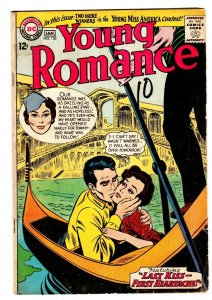 YOUNG ROMANCE #133 comic book 1965-DC ROMANCE-VENICE COVER