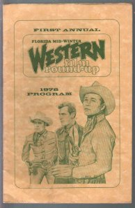 Florida Mid-Winter Western Film Round-up Convention Program Book 1976-FN