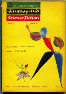 MAGAZINE OF FANTASY AND SCIENCE FICTION-June 1955-Science Fiction Pulp Thrills