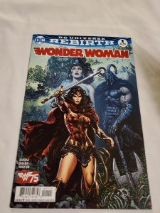 Wonder Woman 1 Near Mint-  Cover by Liam Sharp