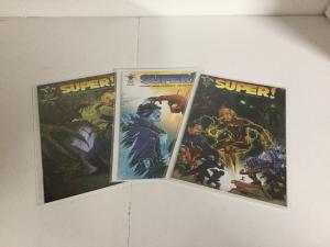 Super! 1 2 3 Lot Set Run Nm Near Mint Unlikely Heroes Studios