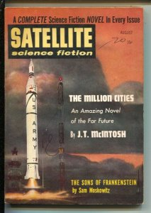 Satellite Science Fiction 8/1958-Sons Of Frankenstein-Sam Moskowitz-pulp-sci-...