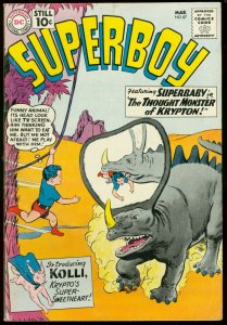 SUPERBOY COMICS #87 1961-DC COMICS-WILD MONSTER COVER VG/FN