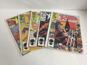 Uncanny X-Men 211-213 215 219 Lot Vf-Nm Very Fine-Near Mint Marvel Comics