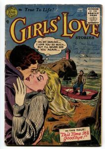 GIRLS LOVE STORIES #35 comic book 1955-ROMANCE-RARE LIGHTHOUSE