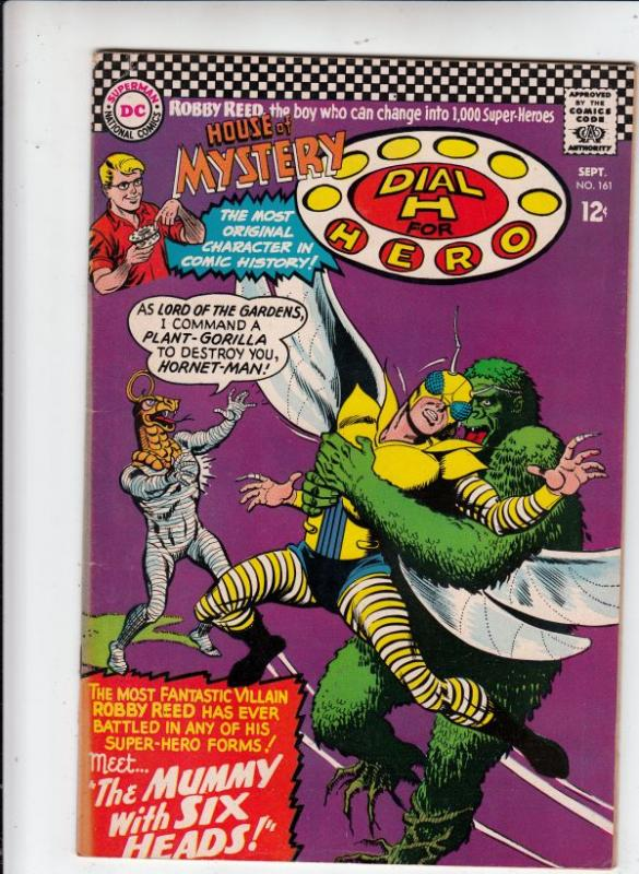 House of Mystery #161 (Sep-66) VF High-Grade Martian Manhunter, Robby Reed (D...