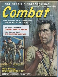 Combat 2/1959-1st issue-cheesecake pix-American POW-Nazi's-Clarence Doore-VG+