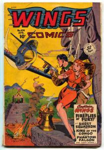 Wings Comics #104 1949- Ghost Squadron- Headlight cover VG